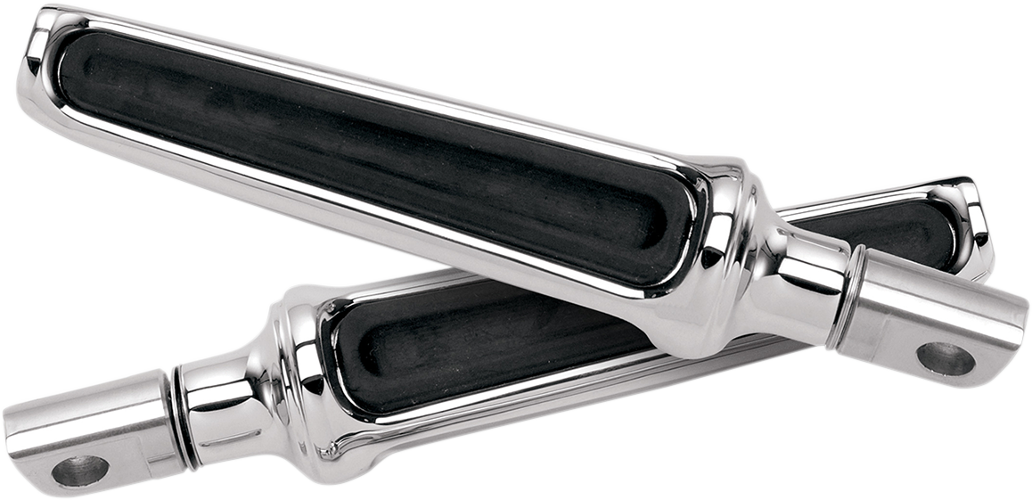 Performance Machine Chrome Contour Universal Male Mount Footpegs for Harley