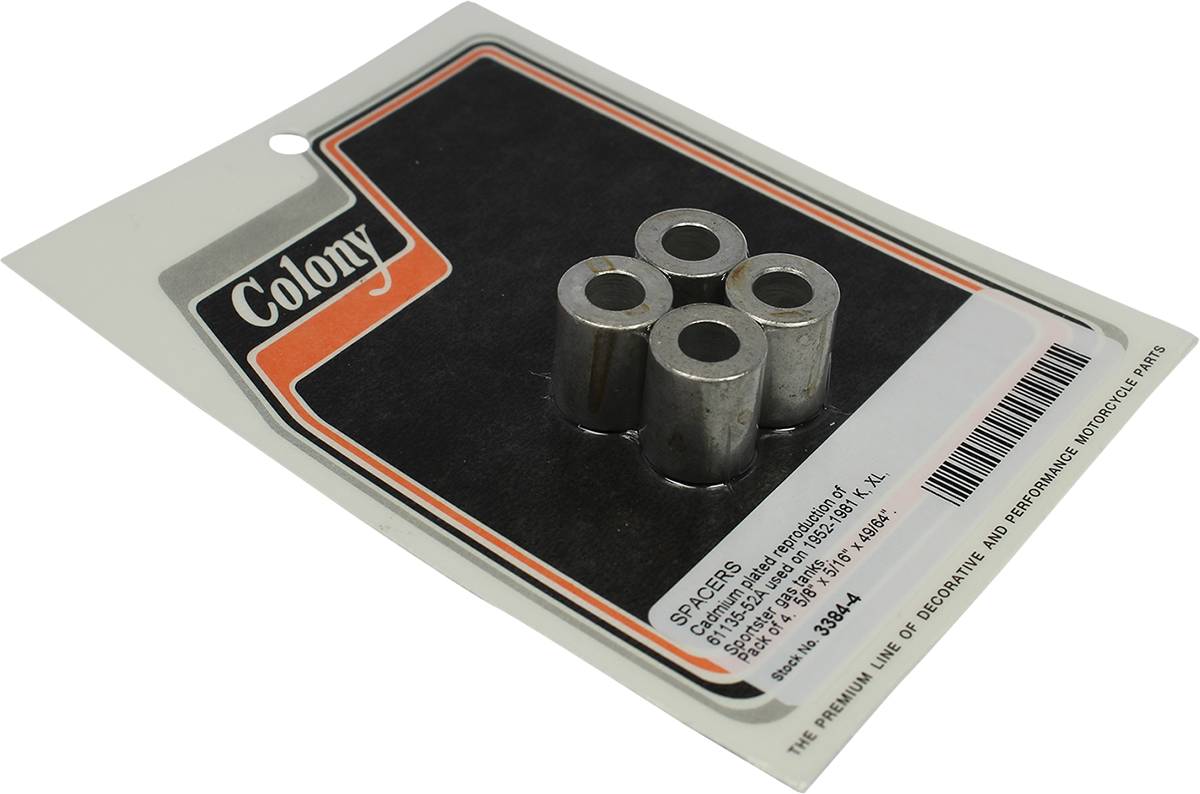 Colony 4 Pack Motorcycle Gas Tank Spacers 57-81 Harley Sportster XLCH XL XR XLS