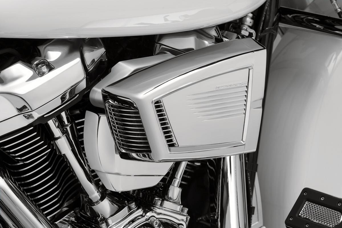Kuryakyn 9340 Chrome Throttle Servo Cover for 17-18 Harley Touring FLHX FLHR