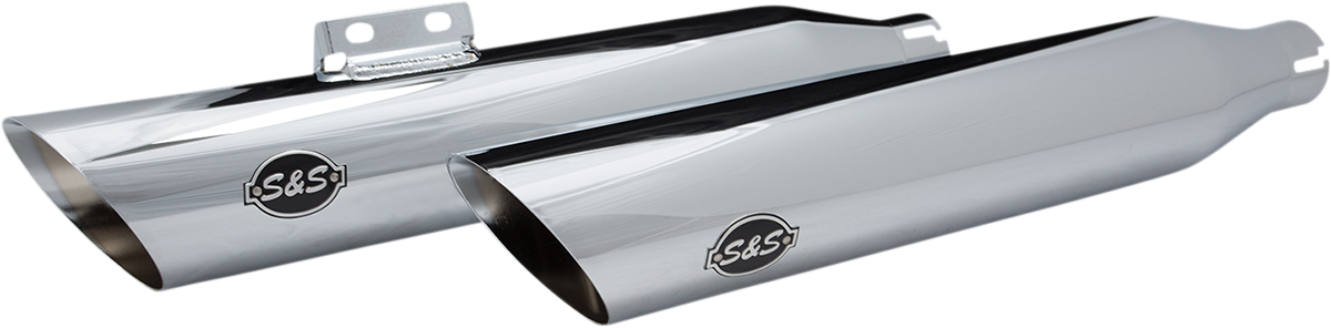 S&S 50 State Legal Chrome Slip on Exhaust Mufflers 18-20 Harley Softail FLFB