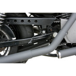 BLACK STEP-WELDED STAGGERED DUAL EXHAUST
