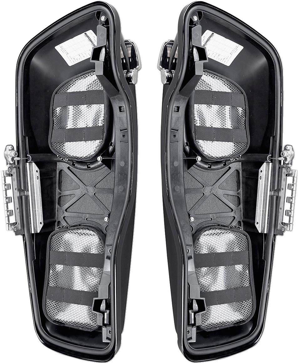 Saddlemen Black Pair Saddlebag Lid Organizer for 14-19 Harley Touring FLHR FLHX