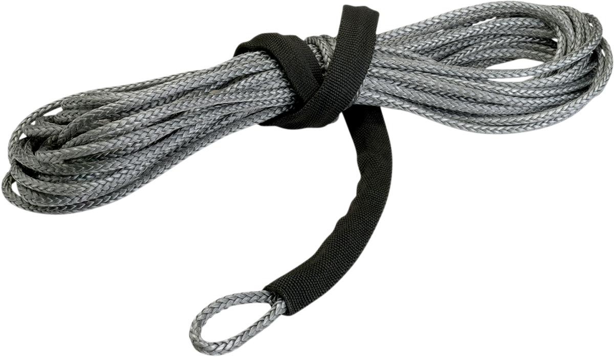 """Moose Utility Gray 3/16"""" x 50' Synthetic Universal ATV Offroad Winch Rope Cable"""