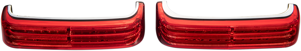 Custom Dynamics Chrome LED Saddlebag Lights Red Lenses for 14-19 Harley FLTRX