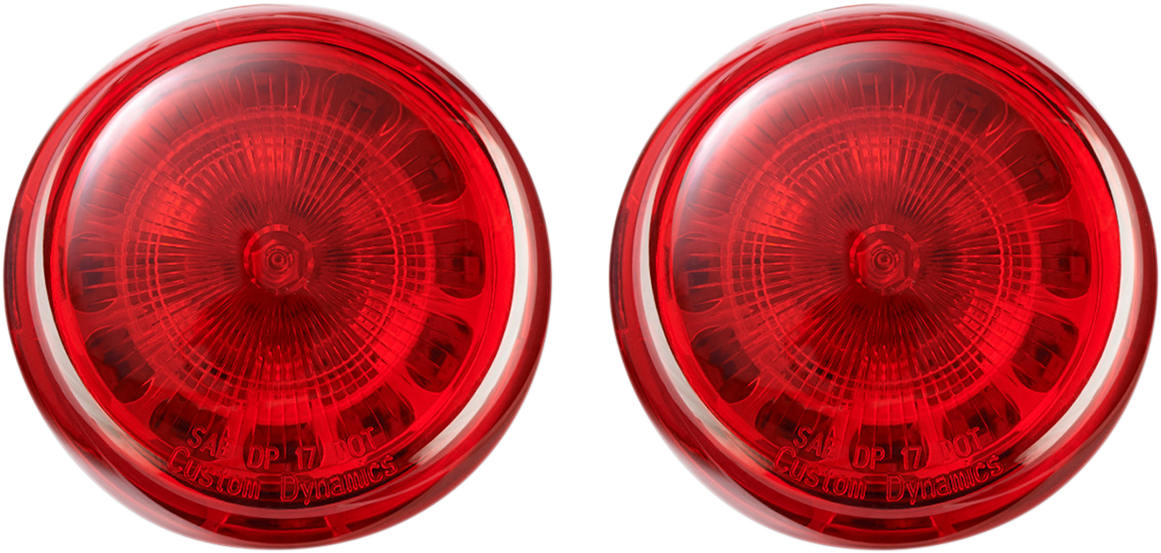 Custom Dynamics Rear 1156 Red Rear LED Probeam Turn Signal Inserts for Harley