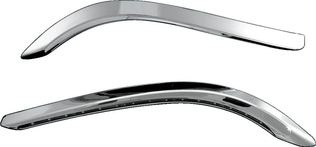 Kuryakyn 7753 Chrome Bat Lashes Front Fairing LED Light for 96-13 Harley Touring