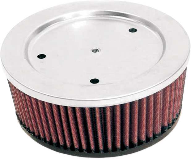 K&N High Flow Red Cotton Gauze Air Filter for Evo Reverse Tapered Harley