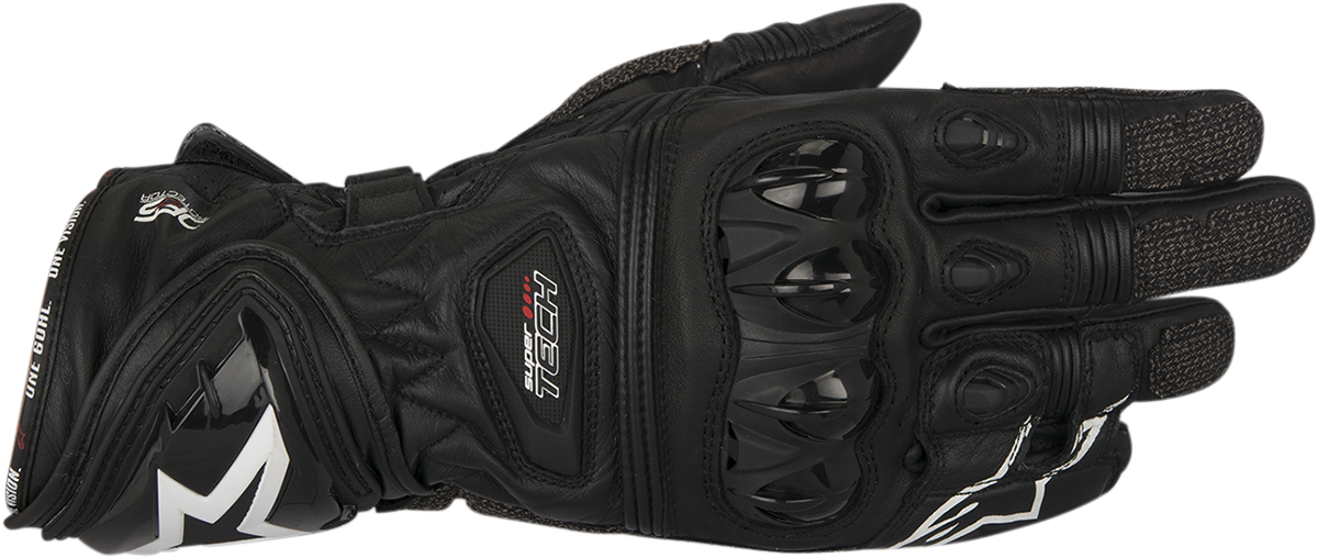 Alpinestars Mens Black Leather Supertech Motorcycle Riding Street Racing Gloves