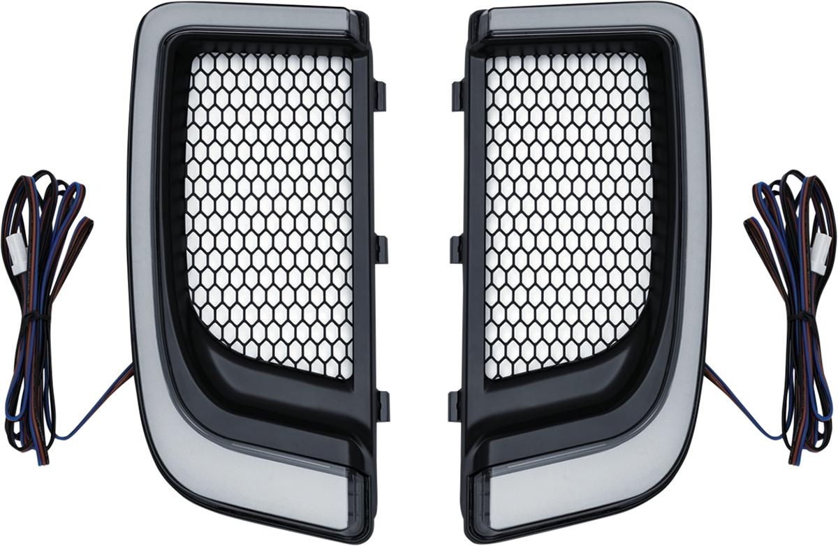 Kuryakyn 5064 Lower Fairing LED Turn Signal Lights 14-20 Harley Touring FLHTK
