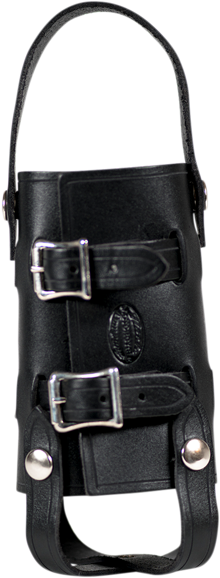 Nash Black Leather Nickel Sling Quick Snap Universal 33oz Water Bottle Holder