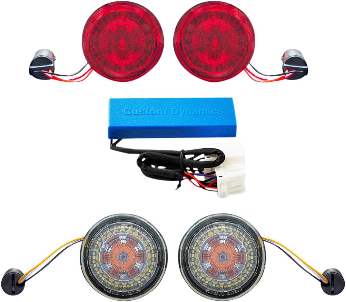 Custom Dynamics Turn Signal Conversion Kit For 02-11 Harley Touring FXDFSE FXDC