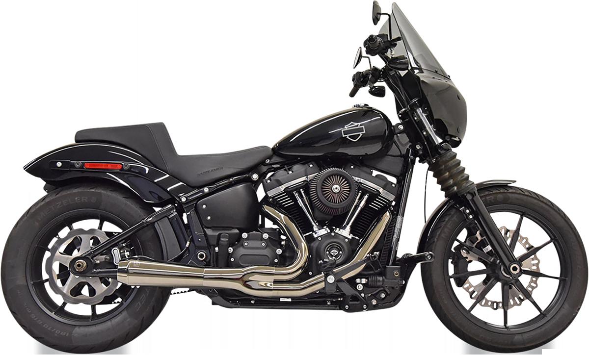 Bassani Road Rage 2-1 Black Chrome Exhaust 18-21 Harley Softail Street Fat Bob