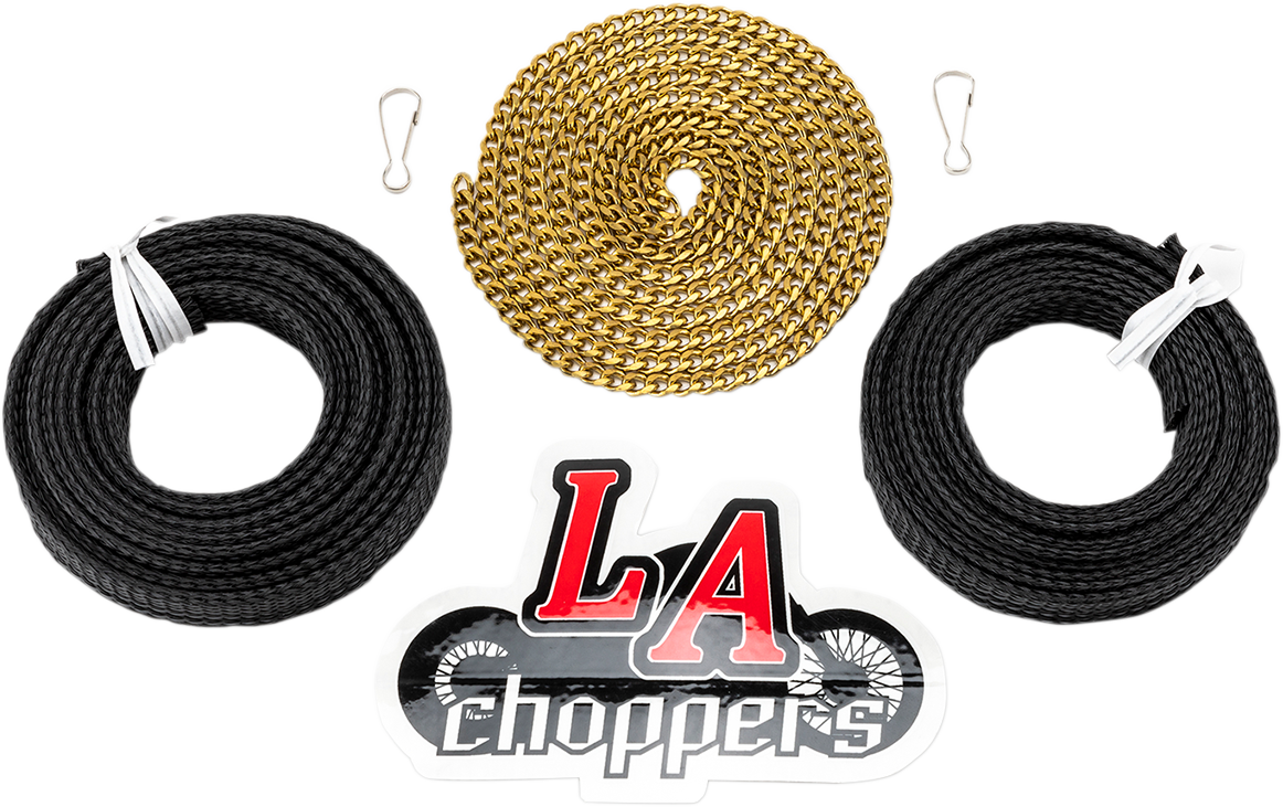 La Choppers Easy Hero Handlebar Wiring Install Kit for Harley Davidson FLHX FLHT