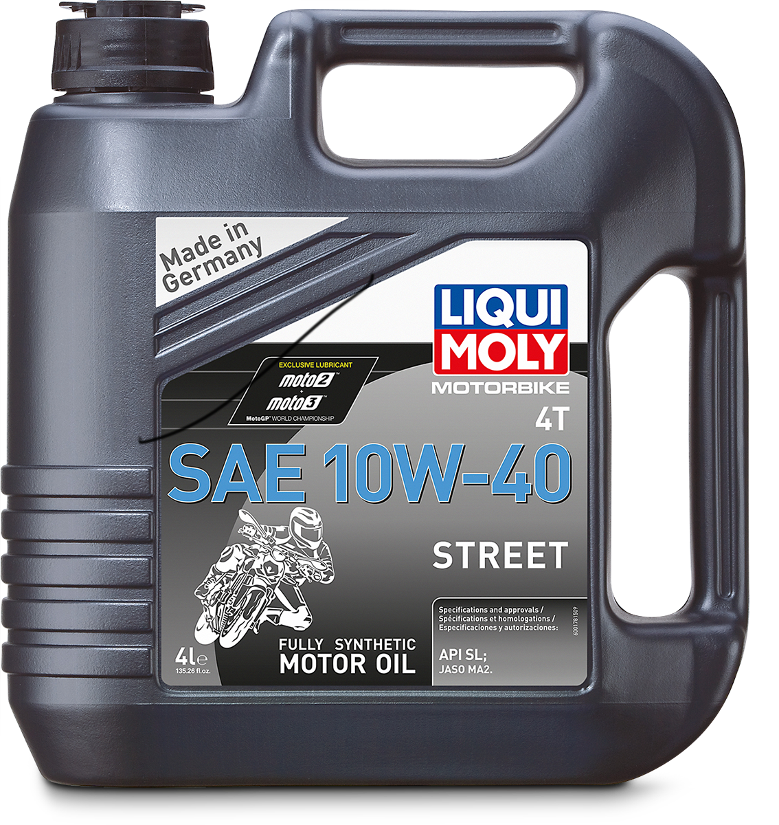 Liqui Moly 4 Liter 10W-40 Fully Synthetic Motorcycle Engine Oil Street