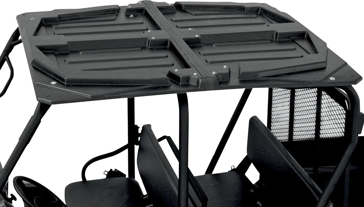 Moose Utility Black 3 Piece Polyethylene UTV Roof for 10-14 Polaris Ranger Crew