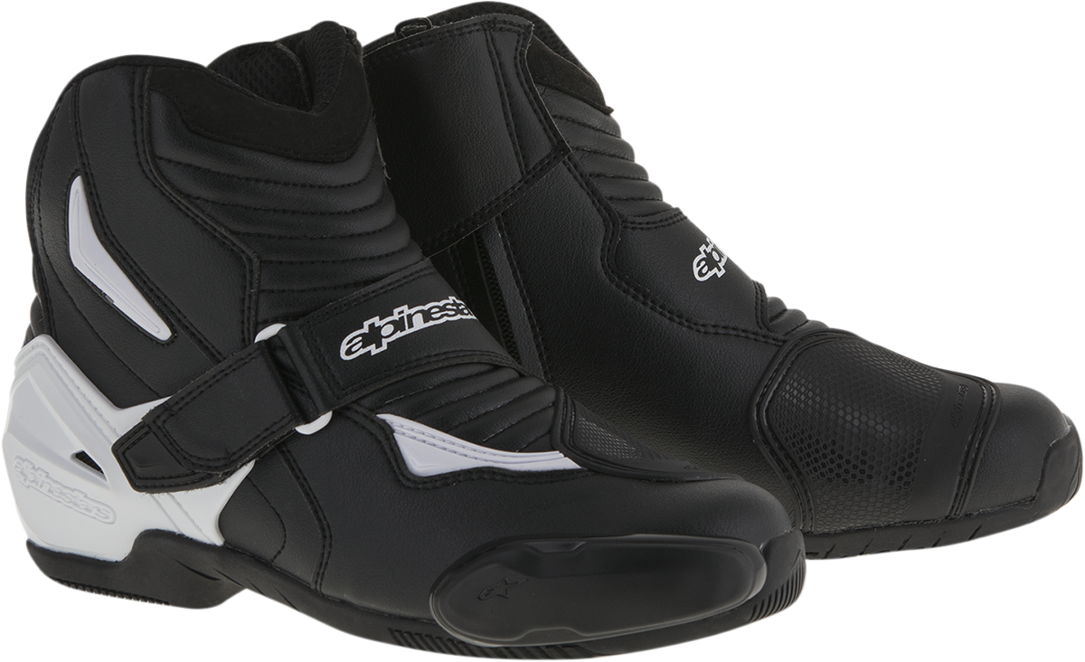 Alpinestars Mens Pair SMX-1R Black White Motorcycle Riding Street Racing Boots