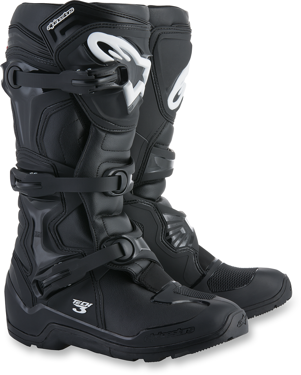 Alpinestars Mens Black Tech 3 AT Enduro Off road Racing Dirt Bike Riding Boots