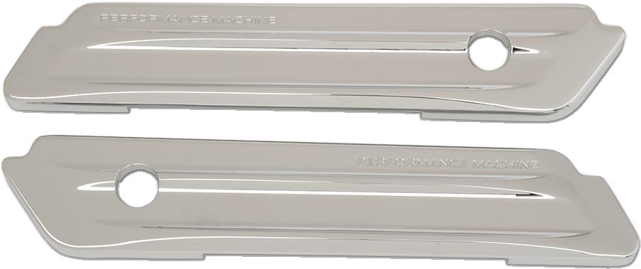PM Chrome Rear Saddlebag Hing Covers for 14-19 Harley Touring FLHX FLHR FLTRXS