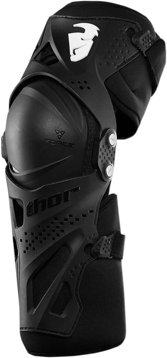 Thor Force XP Unisex Plastic Textile Pair Off road Racing Dirt Bike Knee Guards