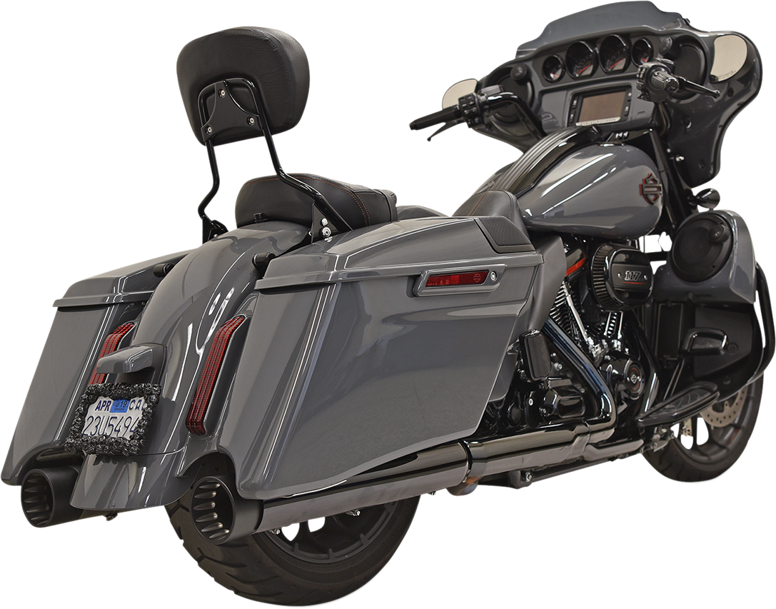 """Bassani Black CVO 4"""" DNT Exhaust Mufflers for 17-19 Harley Touring FLHXSE FLTRSE"""