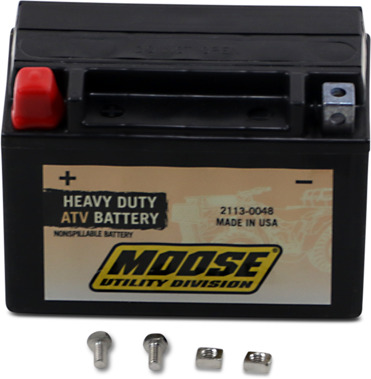 Moose Heavy Duty YTX9 Maintenance Free Battery for 87-16 Arctic Cat Kawasaki