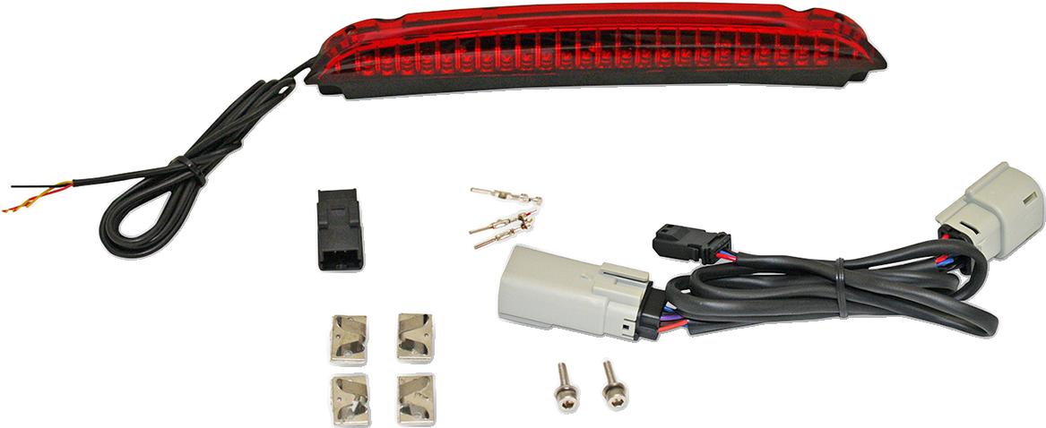 Custom Dynamics Black LED Rear Luggage Rack Brake Light for 15-19 Harley FLRT