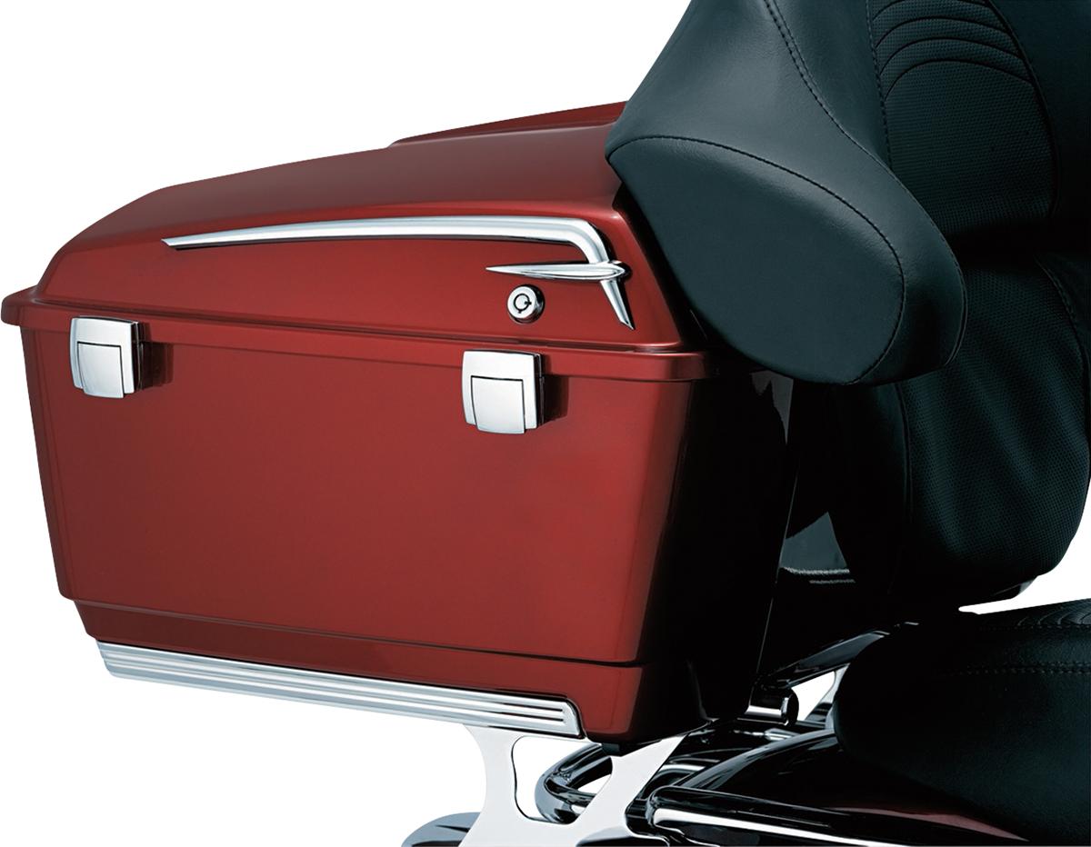 Kuryakyn 8647 Chrome Tour Pak Lid Accent for 80-13 Harley Touring FLTC FLHTC