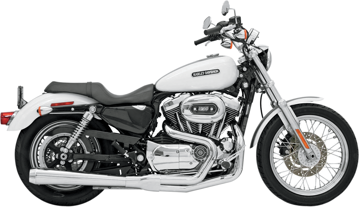 Bassani 2-1 Chrome Road Rage Megaphone Exhaust for 04-13 Harley Sportster XL XLL