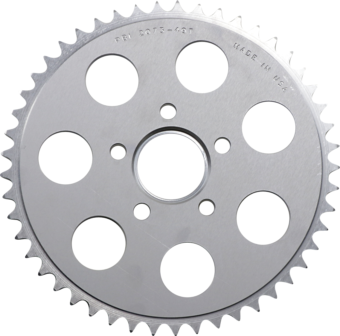 PBI Chrome Rear 49 Tooth Sprocket 86-13 Harley Dyna Touring Softail Sportster