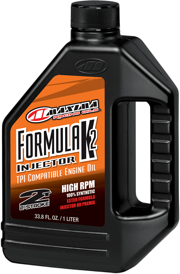 Maxima Racing 2 Stroke Formula K2 Offroad Synthetic 1 Liter Engine Injector Oil