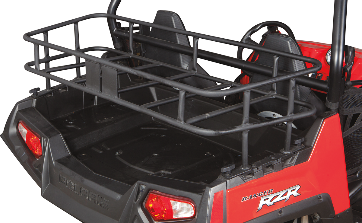 Moose Black Rear UTV Steel Luggage Cargo Bed Rack for 2014 Polaris RZR 900 4x4