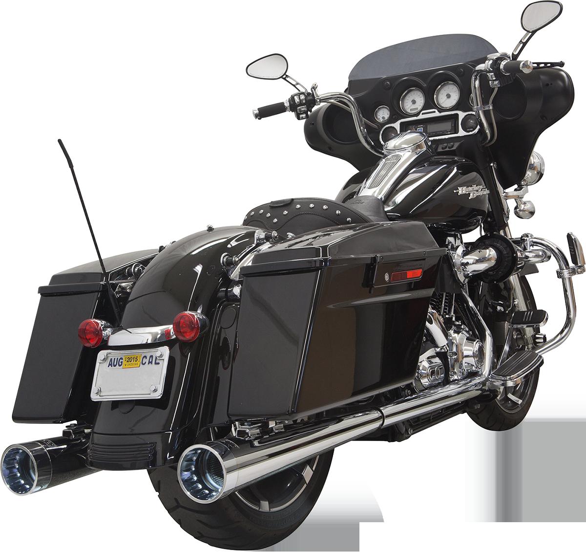 Bassani Chrome Slip On Exhaust Mufflers for 95-16 Harley Touring FLHT FLHX FLHTC