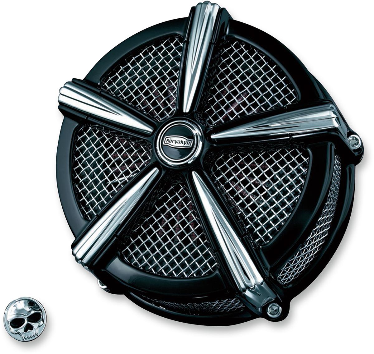 Kuryakyn 9549 Black Chrome Mach 2 Air Cleaner for 07-18 Harley Sportster XL