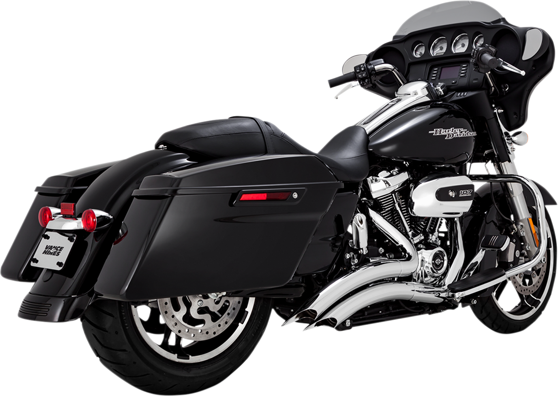 Vance & Hines Chrome Big Radius Exhaust System for 17-18 Harley Touring FLHX