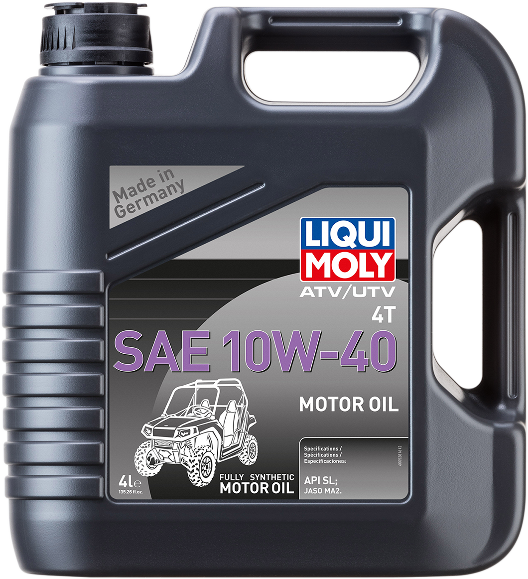 Liqui Moly 4 Liter 10W-40 Fully Synthetic ATV UTV Side by Side Engine Oil