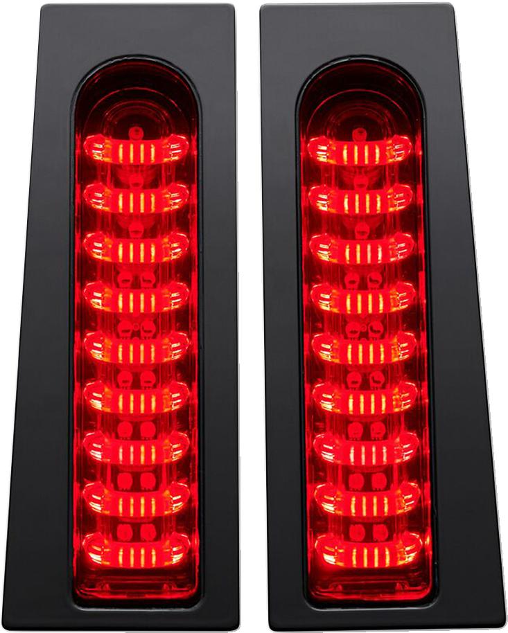 Custom Dynamics Black Red LED Rear Saddlebag Lights 14-19 Harley Touring FLHX