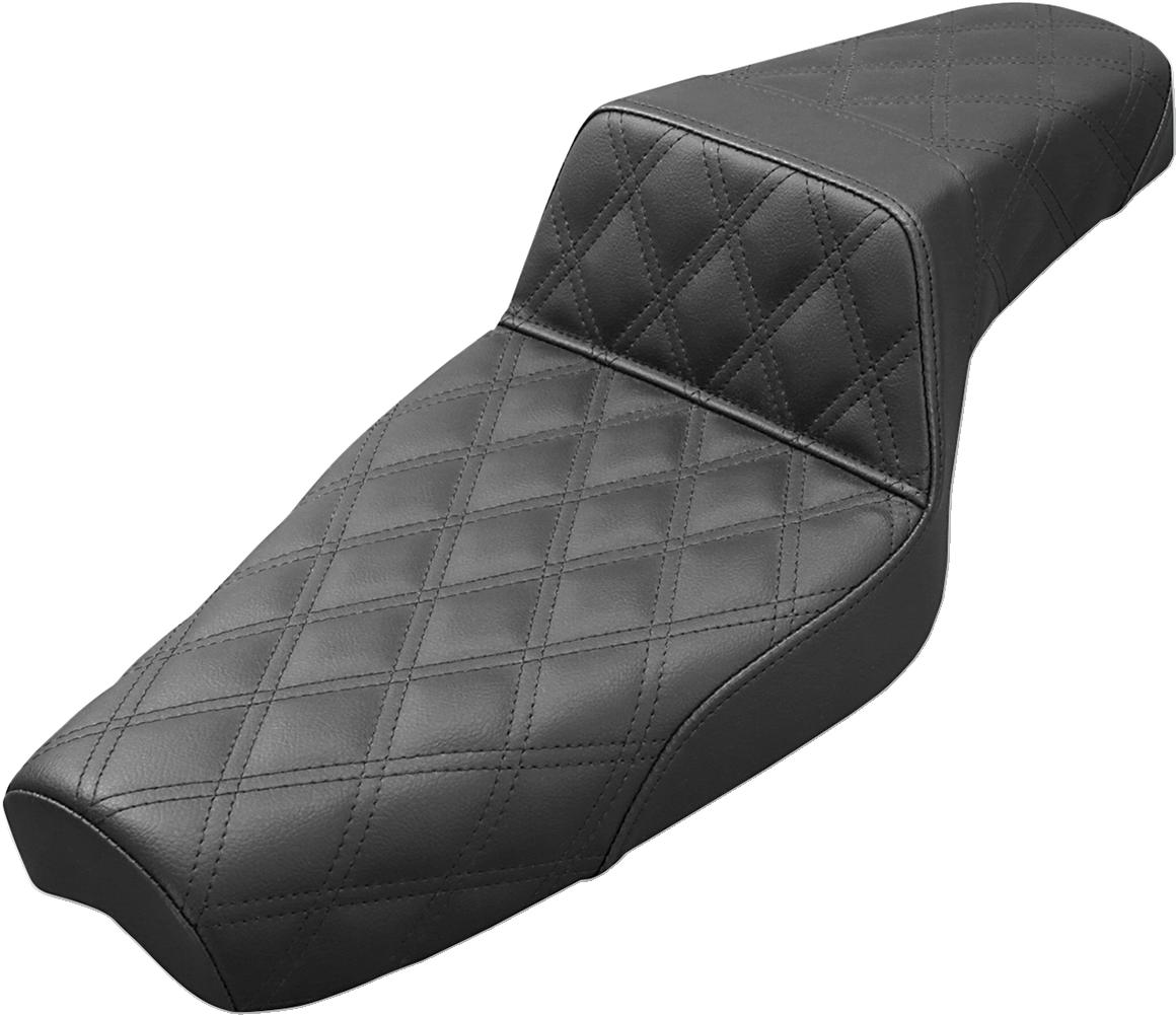 Saddlemen Black Lattice Stitched Step Up Seat for 79-03 Harley Sportster XL XLH