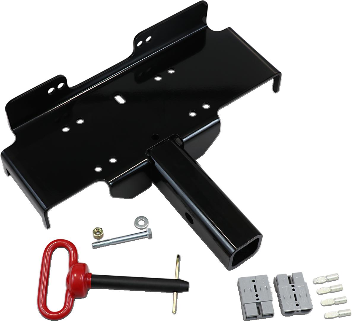 "Moose Utility Black ATV UTV Side by Side Offroad 2"" Winch Mount Receiver Kit"