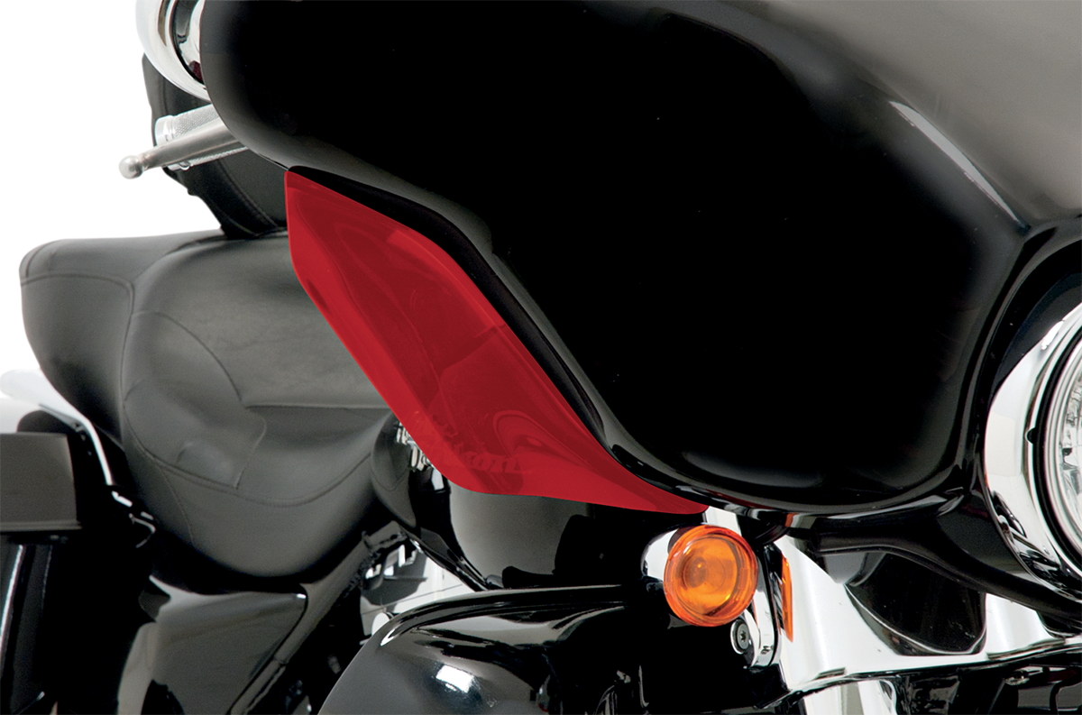 Memphis Shades Red Front Fairing Wind Deflectors for 96-13 Harley Touring FLHX