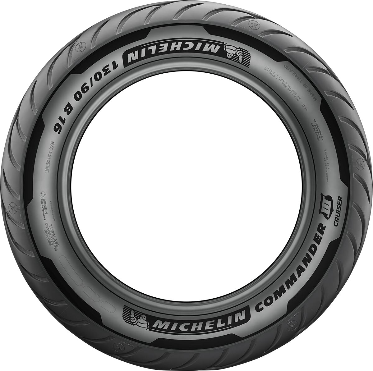 Michelin Commander III 130/90B16 Blackwall 73H Front Motorcycle Touring Tire