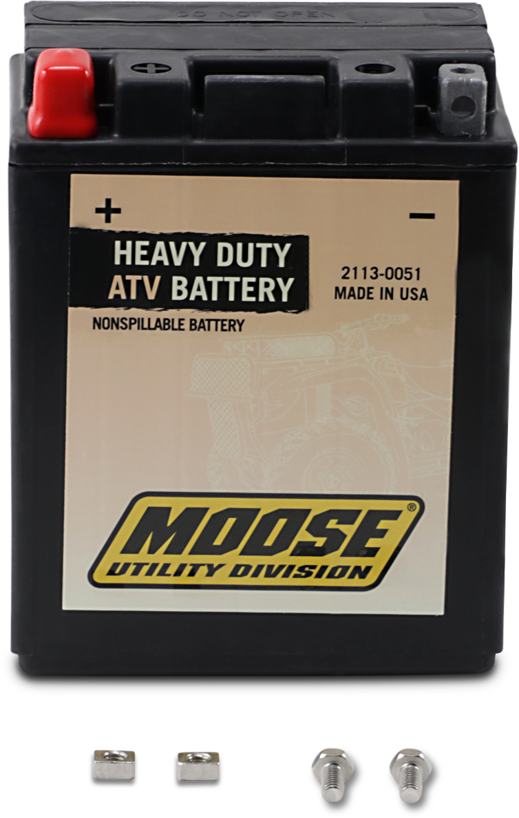 Moose Heavy Duty YTX14AH Maintenance Free Battery for 83-13 Arctic Cat Polaris