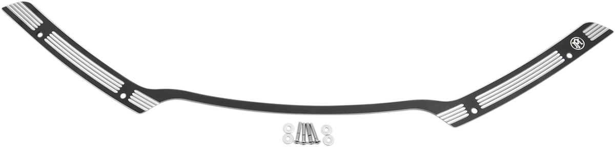 Performance Machine PM Black Windshield Fairing Trim for 15-18 Harley Road Glide