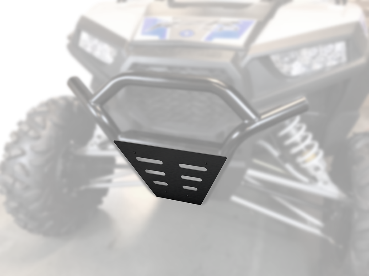 Moose Racing Side By Side Black Steel Front Bumper Guard for 15-18 Polaris RZR