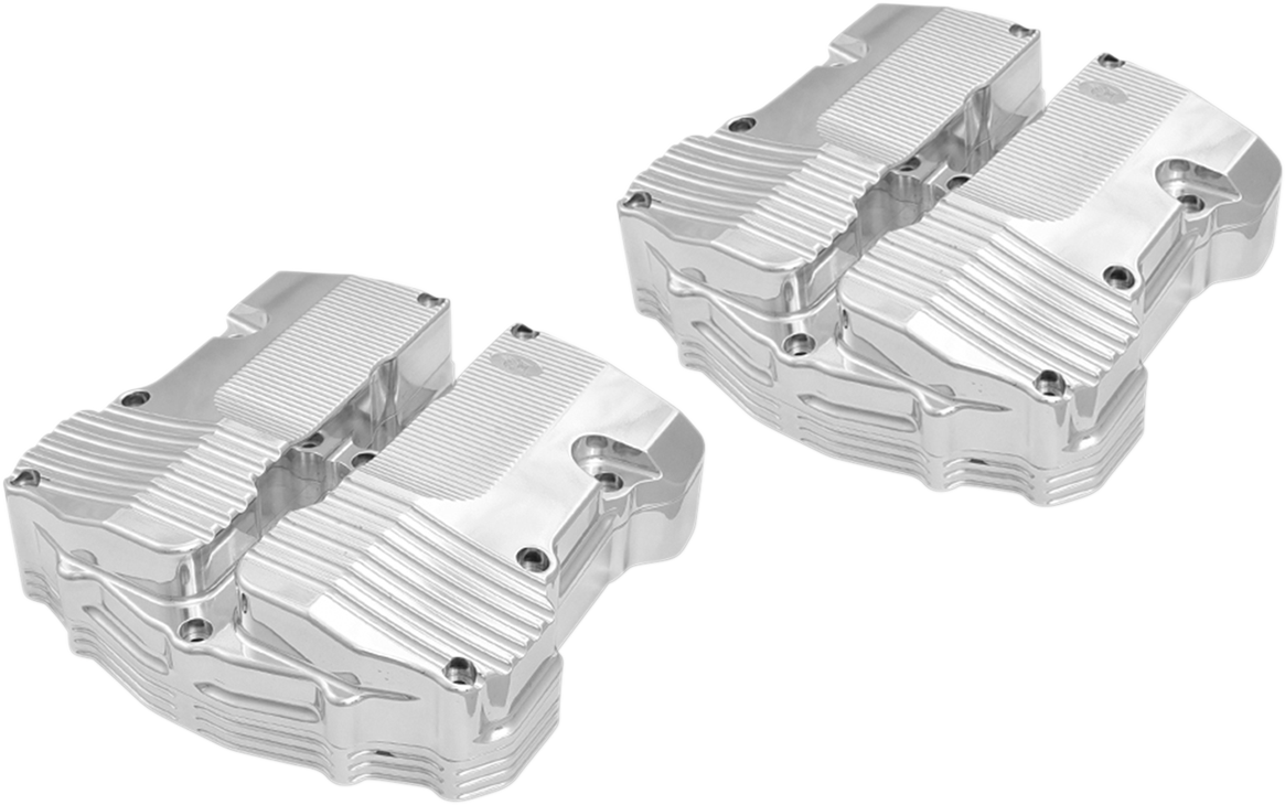 Kens Factory Polished Rocker Box Covers for 17-18 Harley Touring Softail FLFB