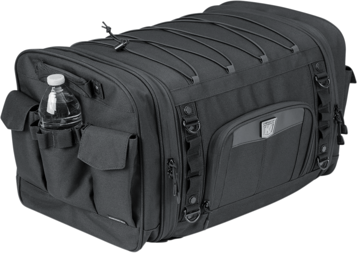 Kuryakyn 5283 Textile Black Momentum Drifter Rear Tail Bag Luggage for Harley