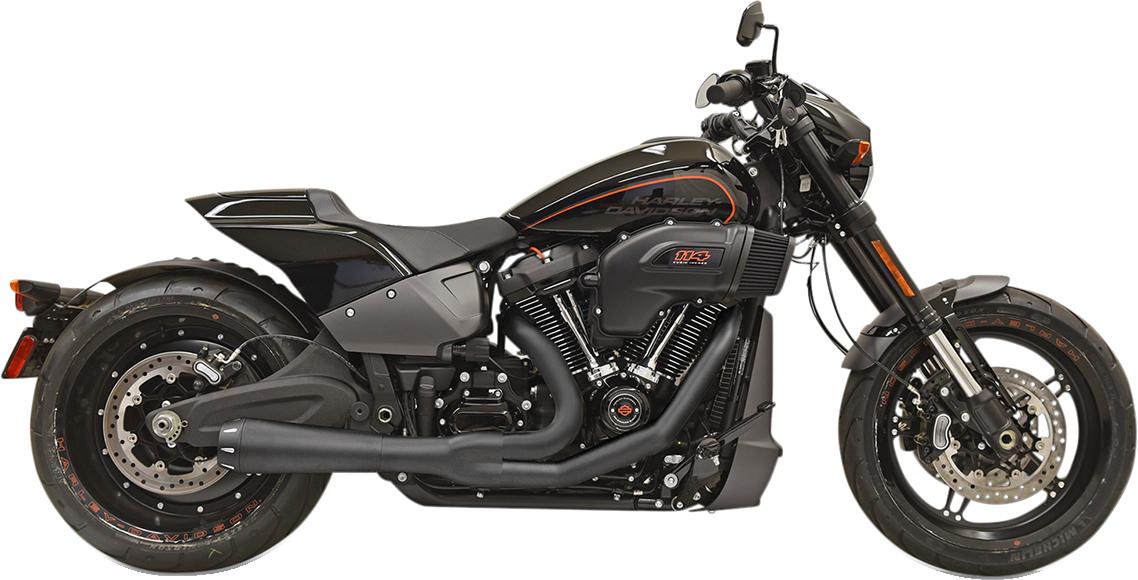 Bassani 2-1 Black Road Rage Exhaust for 18-19 Harley FLFB FXBR FXDRS