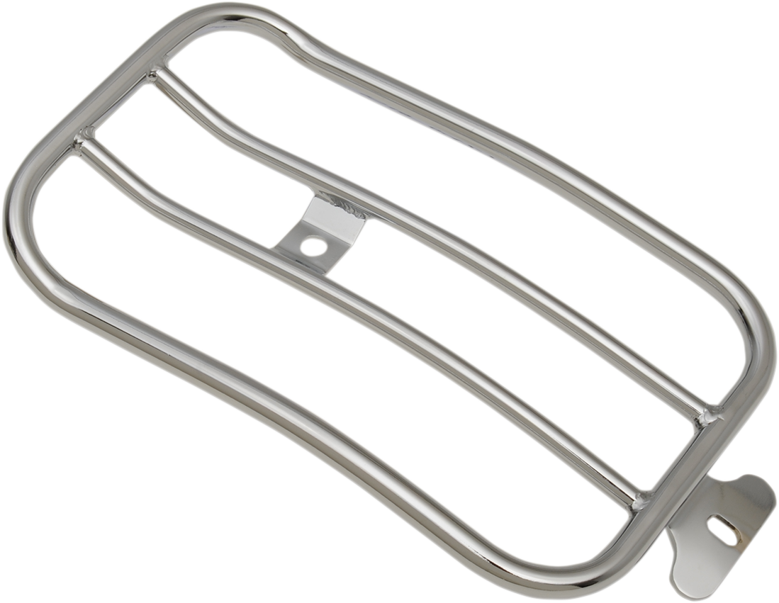 "Motherwell 7"" Chrome Solo Luggage Rack for 07-17 Harley Softail FLSTB FLSTF"