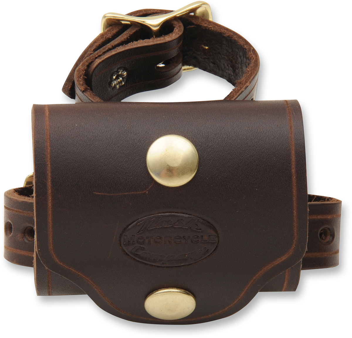 Nash Brown Brass Plain Leather Universal V Twin Motorcycle