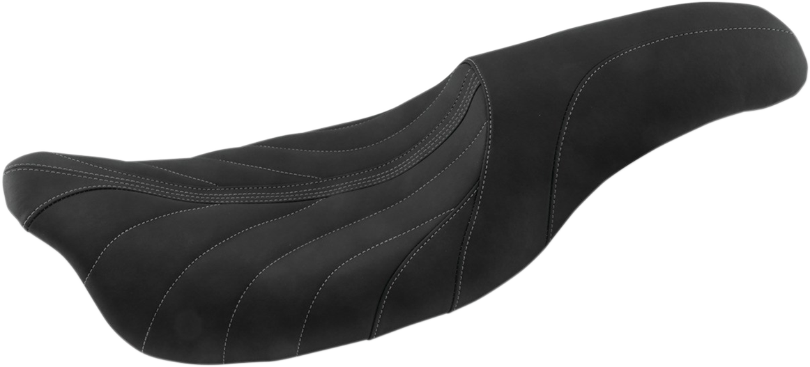 Mustang Black Gray Revere Journey Gravity Motorcycle Seat 08-20 Harley Touring