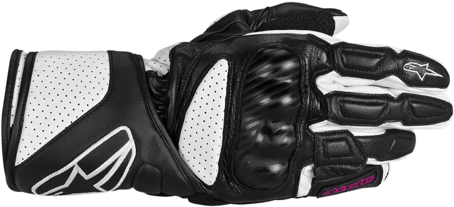 Alpinestars Sp-8 Black Large Womens Leather Motorcycle Riding Gloves